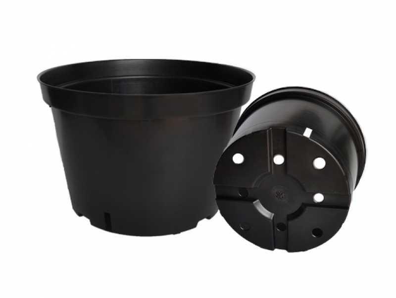Большой горшок для цветы черный