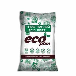 Торф кислый для голубики 20л, eco plus