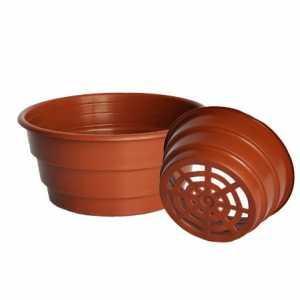 Миска для рассады, 17х8,5 (1,8 литра) коричневая, (Дон Квят)