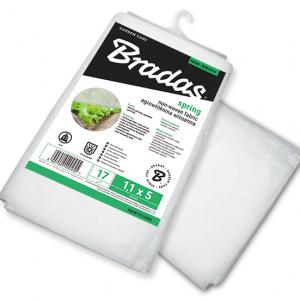 Агроволокно 17 гр/м² зимнее, белое, пакет, размер 1,1 x 10м