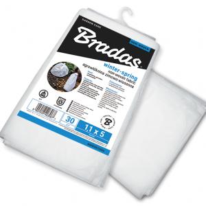 Агроволокно 30 гр/м² зимнее, белое, пакет, размер 1,1 x 10м