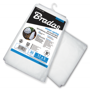 Агроволокно 30 гр/м² зимнее, белое, пакет, размер 1,6 x 5м