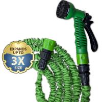 Растягивающийся шланг TRICK HOSE, зеленый, 7,5-22 м